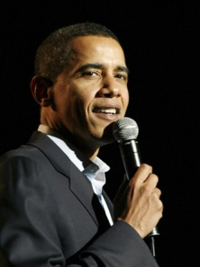Senator Barack Obama speaks during the Los Angeles Generation Ob