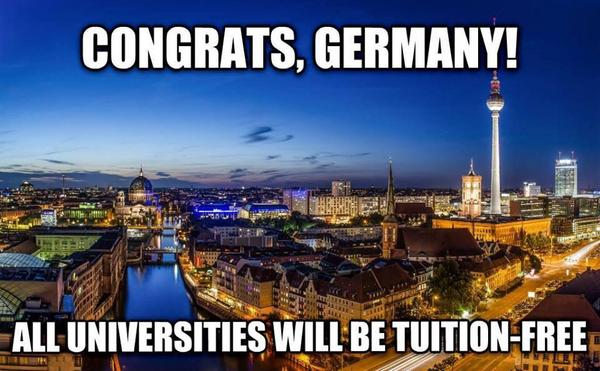"""Germany Abolished College Tuition Fees 